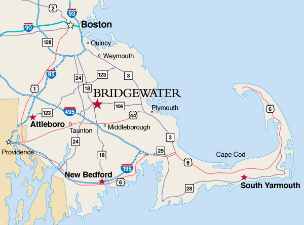 plymouth state campus map Directions Parking Bridgewater State University plymouth state campus map