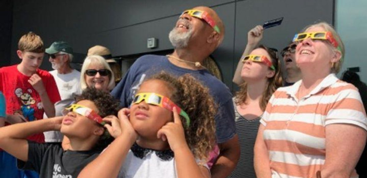 Watching an eclipse at the BSU Observatory
